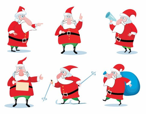Name: Christmas Santa Claus Vector Set Homepage: http://www.thevectorart.com