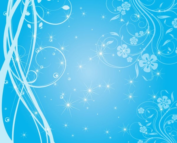 Free Swirly Blue Stars Vector Background | Free Vector ...