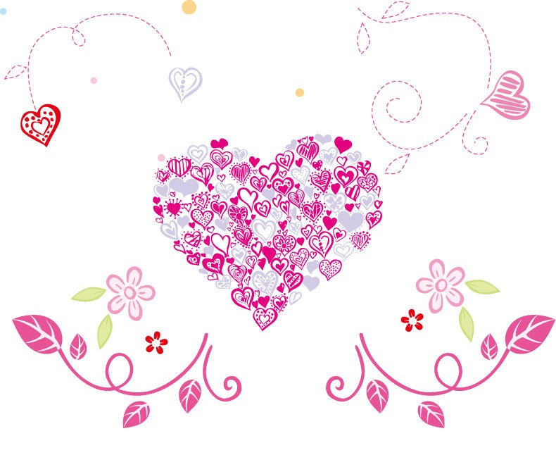 Download Floral Love Heart Vector Graphic | Free Vector Graphics ...