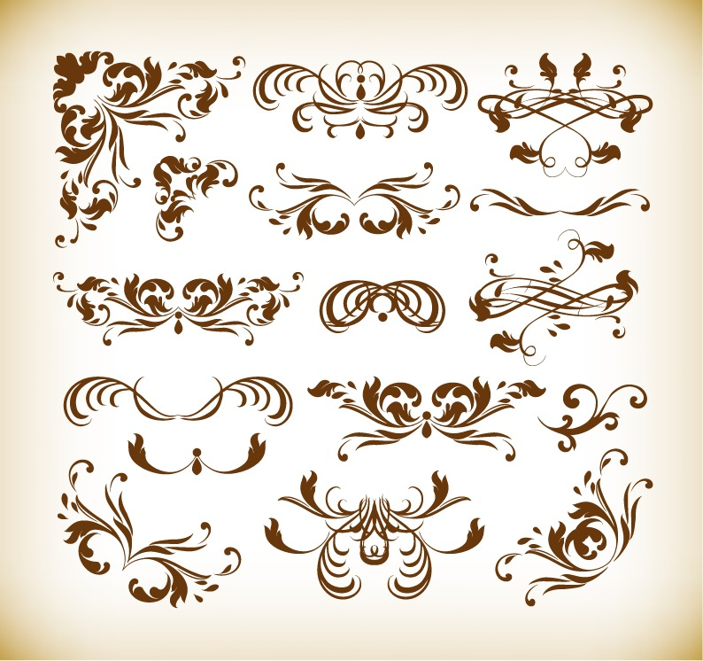 Decorative Art Clip Elements