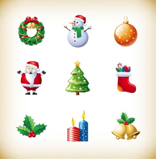 Decorative Christmas Clip Art Elements Vector