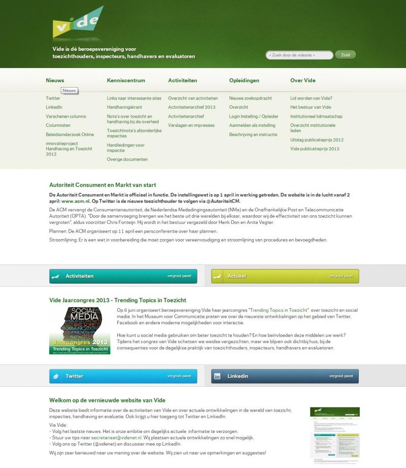 Vide webdesign 2013