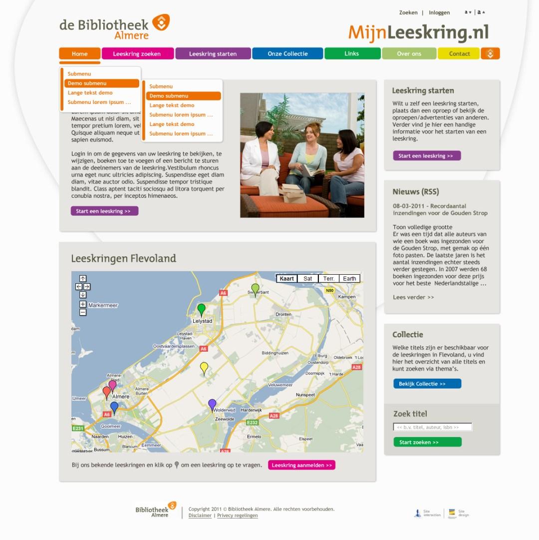 Bibliotheek website design