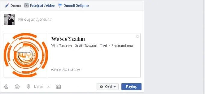 Wordpress öne çıkarılmış görselin facebook paylaşımlarında çıkmaması