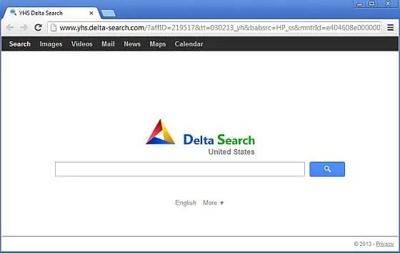 Tarayıcıya bulaşan delta search virüsü Resim 1.1