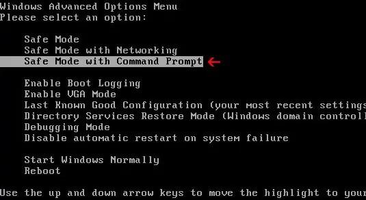 Bilgisayarın açılışı sırasında sürekli olarak F8 tuşuna basın . Bios sürümünüze göre farklılık gösterebilir . bu yüzden bios üzerinden güvenli mod butonunu arayın . veya internetten araştırın