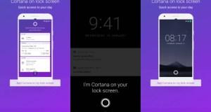 Microsoft Cortana'yı Android kilit ekranına getiriyor