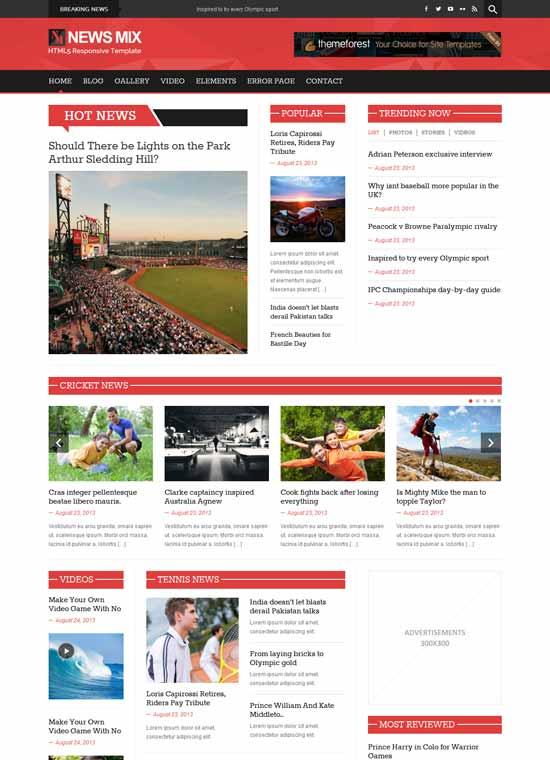 News Mix Magazine - Tema gratis Bootstrap para WordPress
