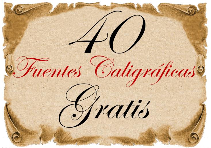 40 fuentes de caligrafía gratis