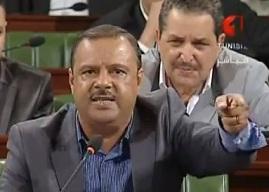 Samir Bettaieb à l'ANC lors de la séance consacrée à l'audition du ministre de l'Intérieur, Ali Larayedh, 19 septembre 2012 - photo (vidéo TVNAT1)