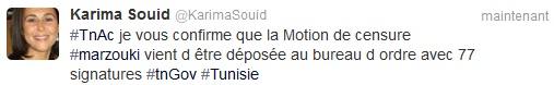 Tweet Karima Souid