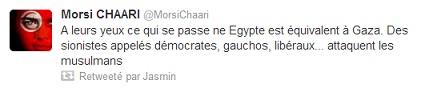Réactions tweet 1, Egypte, 14-08-13