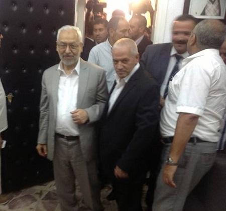 Rencontre Ghannouchi-Abbassi (Crédit photo page Facebook Ennahdha)