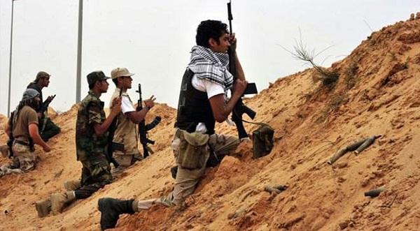 Combattants en Libye