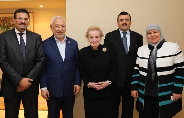 Madeleine Albright - Ennahda - page fb R (1)