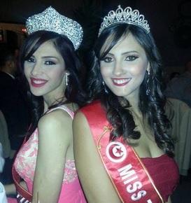 RAWIA JEBALI Miss Tunisia 2015 and WAHIBA ARRES Miss Tunisia 2014