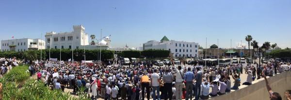 Manifestation des instituteurs sur la place du gouvernement   Photo : Mohamed Ali Sghaier