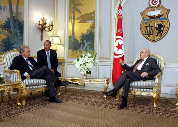 Fabrizio Cicchitto et Béji Caid Essebsi | Photo : Présidence de la République