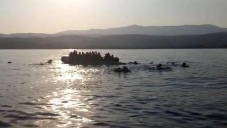 capture ecran bateau migrants grece turquie