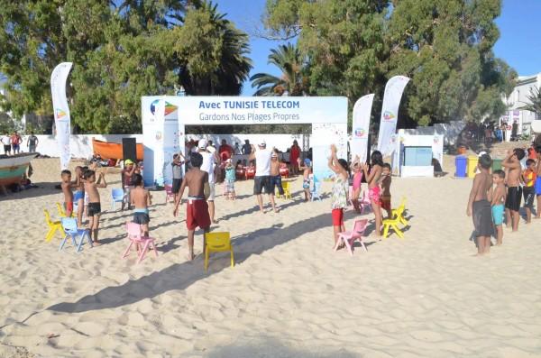 """La campagne """"Gardons nos plages propres"""" à Hammamet"""