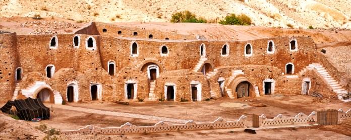 Berbère habitation dans les roches, Matmata, Tunisie