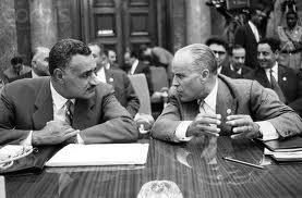 Gamal Abdel Nasser et Habib Bourguiba