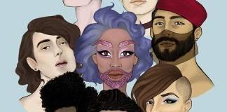 Affiche du Mawjoudin Queer Film Festival