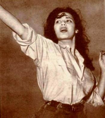 Magda Sabahi incarnant le rôle de Djamila Bouhired