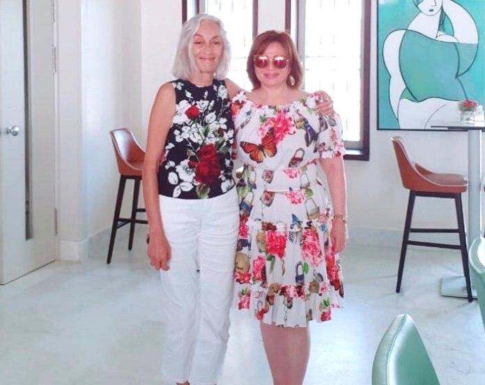 Ilham Chahine et Dorra Bouchoucha, directrice de Manarat