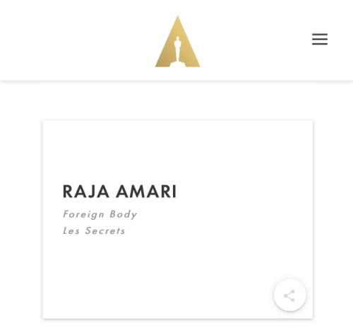 Raja Amari, élue membre de The Academy
