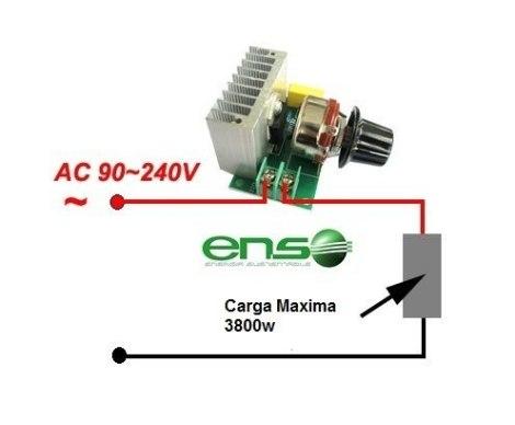 Controlador Dimmer Tarjeta De Control 110v Hasta 3800w