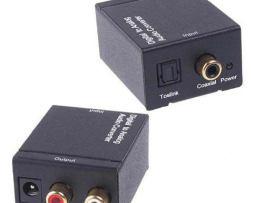 Convertidor Optico Y Coaxial A Rca + Cable Toslink