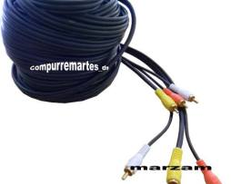 Excelente Cable Rca  Audio Y Video 15 Mts  Uso Profesional