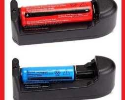 2 Pilas Baterias Recargables 18650 O 14500 + Cargador