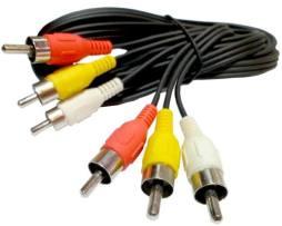 Cable Rca 3 Plug Macho A Macho Audio Y Video 10 Metros