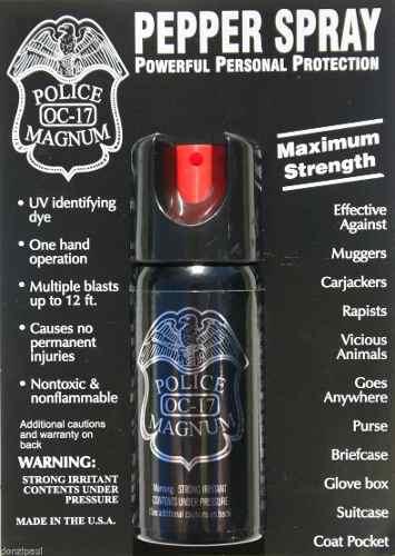 Gas Pimienta Lacrimogeno Spray El Mas Vendido Usa 2oz