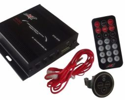 Mini Amplificador P/ Motocicleta Dxr 2 Canales 600w Radio Fm