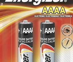 Pila Alcalina Aaaa Energizer Lr61 1.5v Blister 2 Pzas