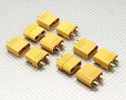 Xt60 Conectores Macho Y Hembra  5 De Cada Uno