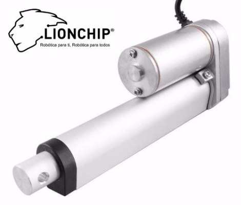 Actuador Motor Lineal 132 Kg Torque 100 Mm Salida Stroke 12 en Web Electro