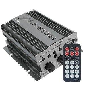 Amplificador 500w Usb Fm Control Remoto Auto Moto Mitzu en Web Electro