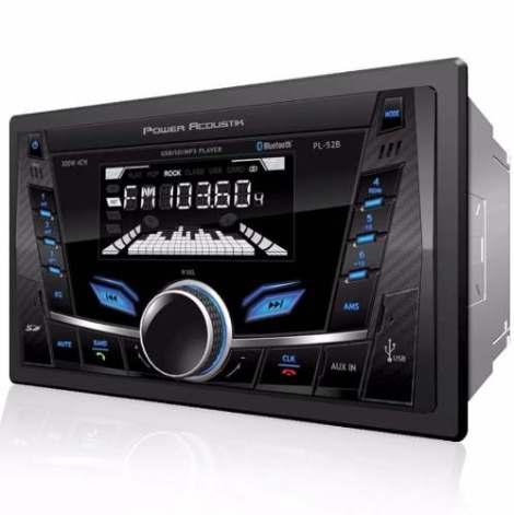 Autoestereo Power Acoustik Pl-52b Bluetooth Usb Sd = Alpine en Web Electro