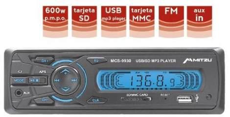 Autoestereos Digital Usb Sd Mp3 Entrada Auxiliar 600w 9930 en Web Electro