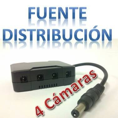 Avtech T4dc Pcon01z Distribuidor De Energía Para 4 Cámaras en Web Electro