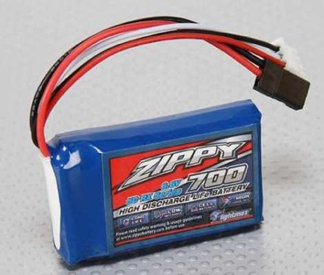 Bateria Life Zippy 700mah 2s 5c 6.6v Receptor Xt en Web Electro