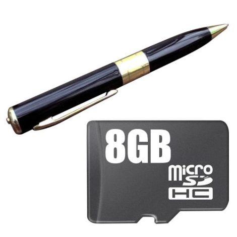 Mini Cámara Espia Pluma Hd Memoria 8gb Incluida en Web Electro