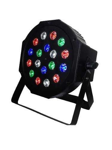 Cañon Par Led 18x1w Rgbw Hyper Leds Dmx Schalter Lighting en Web Electro
