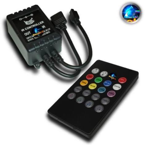Controlador Rgb Audiorítmico Musical Control Ir Tira Led @tl en Web Electro