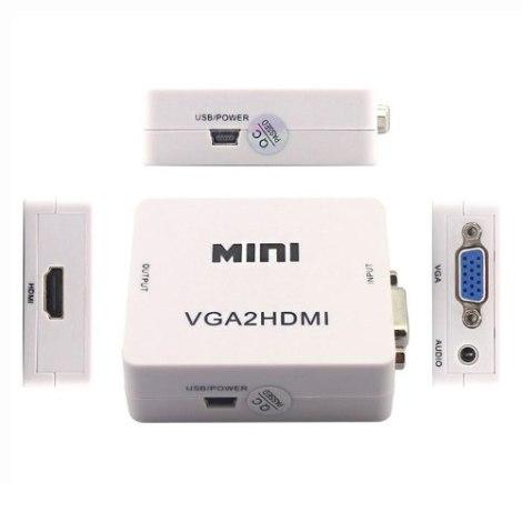 Convertidor Vga A Hdmi 1080p Adaptador Audio Video Laptop Pc en Web Electro
