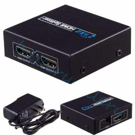 Divisor Splitter Hdmi 1×2 Amplificado Tv Ps4 Pc + Video en Web Electro